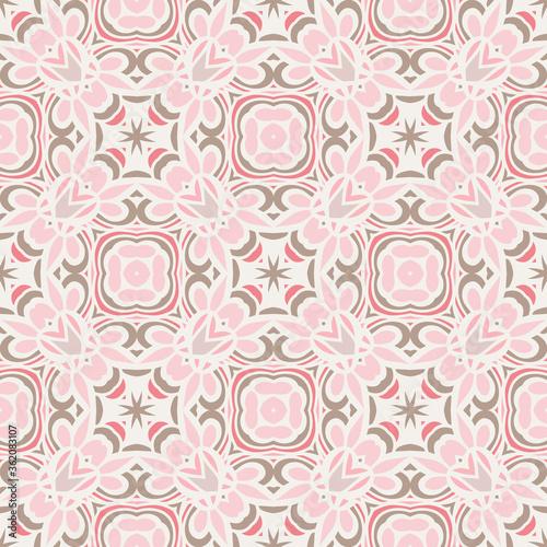 Tapety Orientalne  rozowy-wzor-z-etnicznym-ornamentem-geometrycznym-projekt-boho