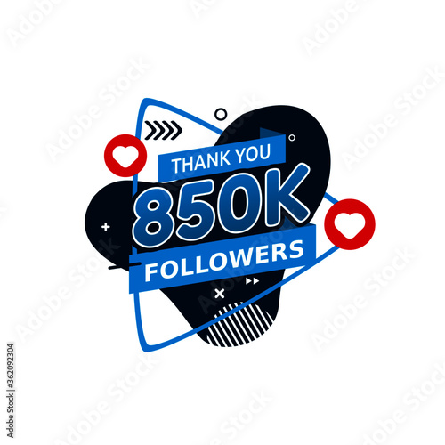 Vector Graphic Of Thank You Stickers For 850k Followers Good For Say Thank To Followers Flat Design Instagram Twitter Flat Illustration Buy This Stock Vector And Explore Similar Vectors At Adobe Stock