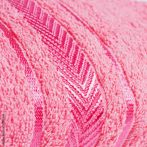 Photo close-up of cotton bath towel