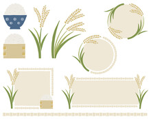 お米と稲穂のイラスト...