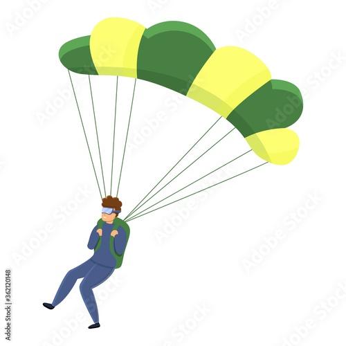 Danger parachuting icon Wallpaper Mural