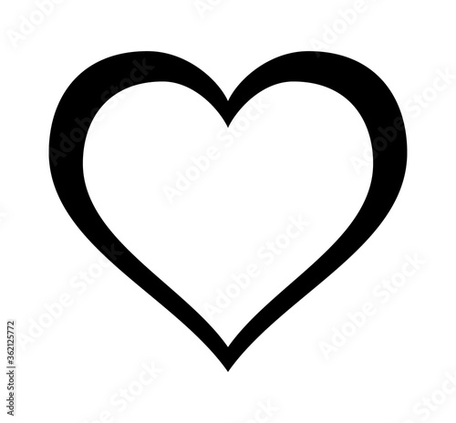 Photo Decorative fancy heart, symbol of love line art vector icon for dating apps and