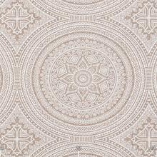 Pattern On A Beige Fabric In A...