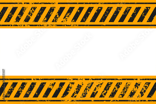 warning style yellow and black stripes background design Fototapet