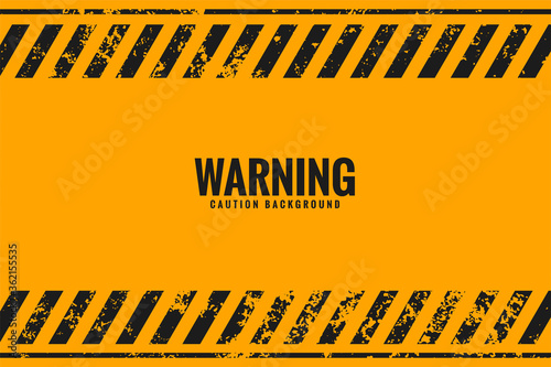 Fotografiet yellow warning background with black stripes lines
