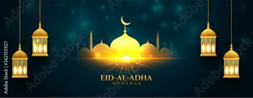 Fototapeta beautiful eid al adha shiny bakrid festival banner obraz