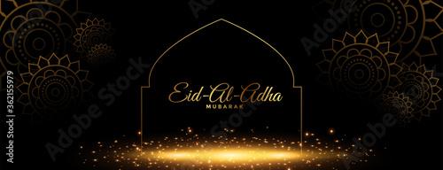 Fototapeta beautiful eid al adha mubarak golden banner design obraz