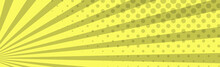 Panoramic Yellow Comic Zoom With Lines - Vector