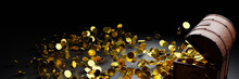 Numerous Gold Coins Spilled Ou...