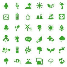 Ecology Icon Set. Eco Saver Ic...