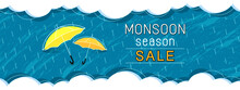 Monsoon Season Sale Banner Des...