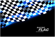 Racing Checkered Flag Sports Background Design