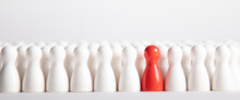 Many White Wooden Figurines An...