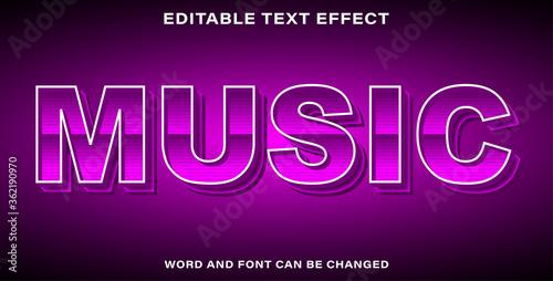 Text effect music Canvas Print