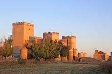 Ampudia Castle, Spain In Morni...