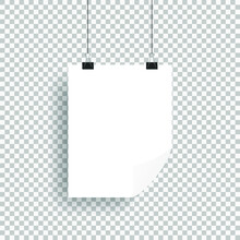 Vector Realistic White Blank A...
