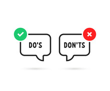 Simple Do's And Don'ts Bubble ...
