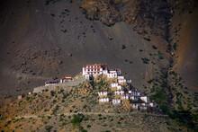 Wide Shot Of Key Monastery In ...