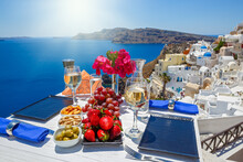 Table With A View Of The Greek...