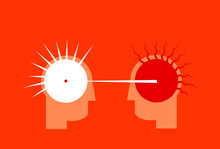 Love From The First Sight Or Heated Argument Illustration