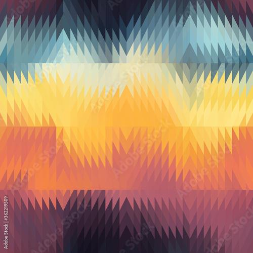 Fotografia, Obraz Seamless vivid degrade blur ombre radiant surreal blurry saturated digital wavy tribal ethnic kilim geo pattern