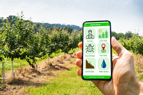 Smart Farming Digital Technology Agriculture App - 362226596