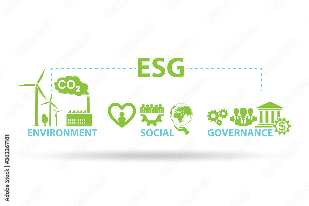 Fototapeta ESG concept as environmental and social governance