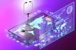 Leinwanddruck Bild - Telemedicine and m-health concept - 3d rendering