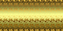 Horizontal Golden Background, Ornament, Modern Concept For Your Design.