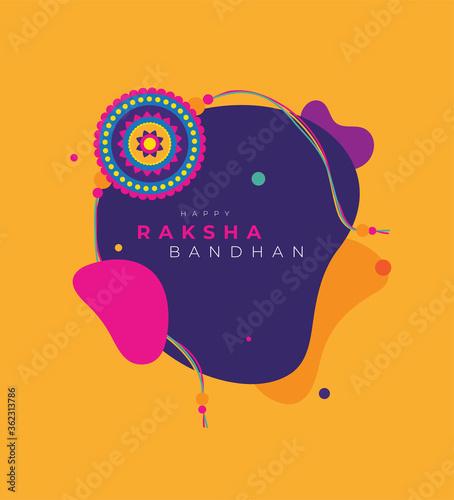фотография Raksha Bandhan Greeting Background Template Vector Illustration