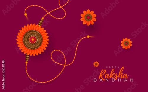 Платно Raksha Bandhan Greeting Background Template Vector Illustration