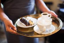 A Mug Of Fragrant Cappuccino B...