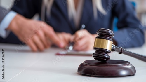 Photo Judge and his gavel in law concept