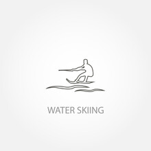 Water Skiing Vector Icon