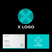 X Logo In A Circle, Like Circl...