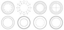 Round Measuring Circles. 360 D...