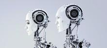 Futuristic Robotic Couple, Rob...