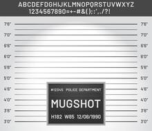Mugshot Template. Police Lineu...