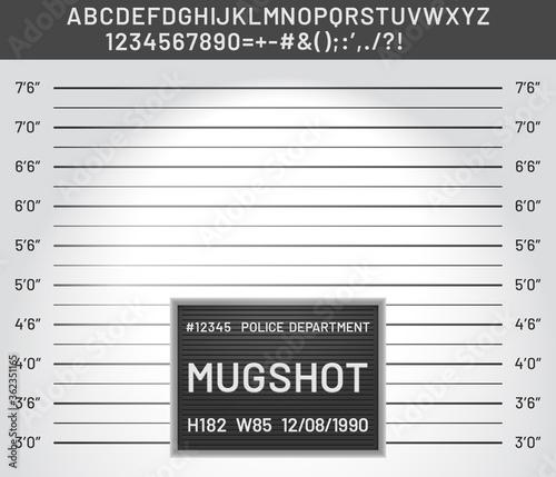 Mugshot template Canvas Print