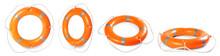 Set With Orange Life Buoys On ...