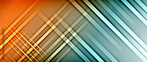 Valokuva Bright gradient neon lines abstract background