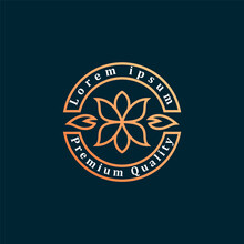 Luxury Golden Floral Logo, Sui...