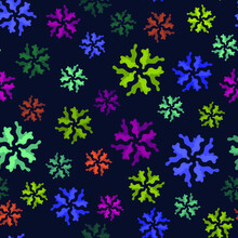 Seamless Pattern, Multicolor Abstract Flowers, Modern Concepts For Your Design.