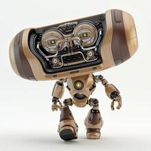 Cool Wooden Robotic Creature -...