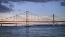 Forth Road Bridge And Queensferry Crossing Bridge