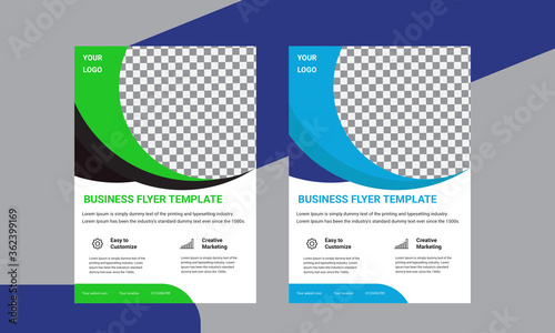 Cuadros en Lienzo flyer design template vector design. Layout template in A4 size