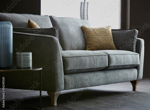 Vászonkép Comfortable couch in living room