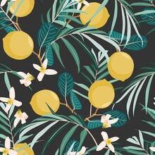 Seamless Citrus Vintage Patter...