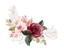 Watercolor Arrangement Of Soft...