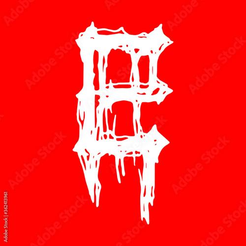Valokuvatapetti Metal music band's font